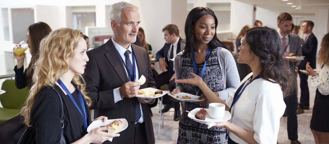 group of business professionals networking