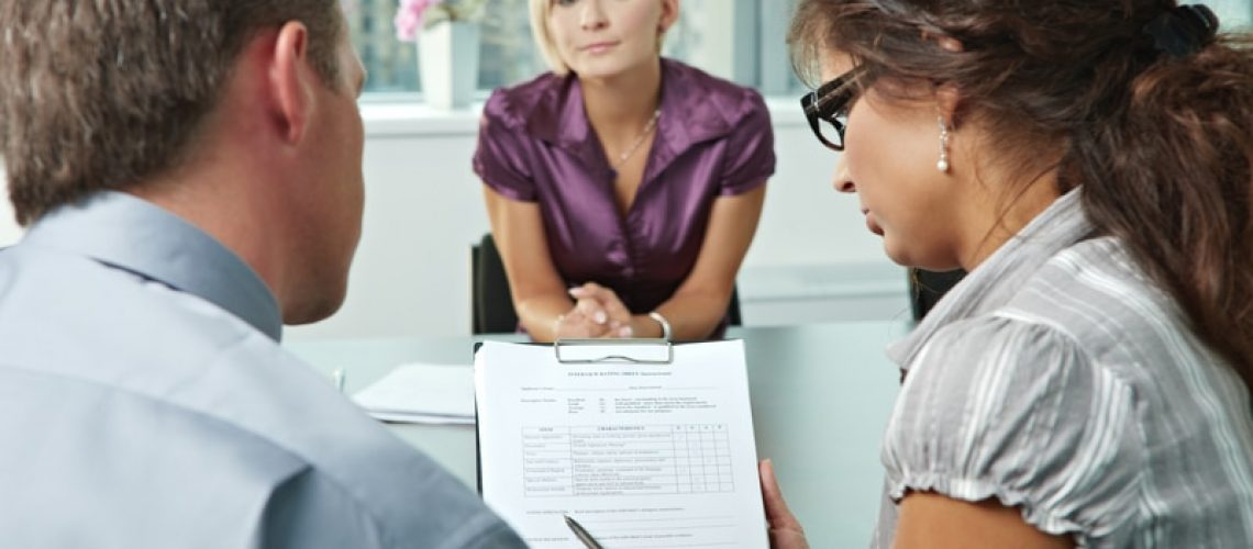 businessperson on job interview
